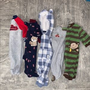 Baby Boys Carter's Size 3 Month Footie Pajamas